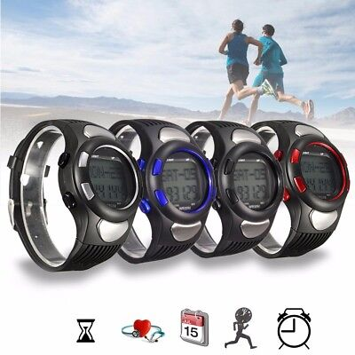 Calorie Counter Pulse Heart Rate Monitor Pedometer Watch Fitness Sports Exercise