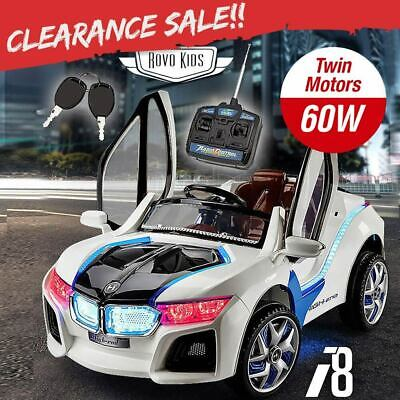 NEW ROVO KIDS Ride-On Car BMW X5 Inspired Electric Toy Battery Remote 12V White