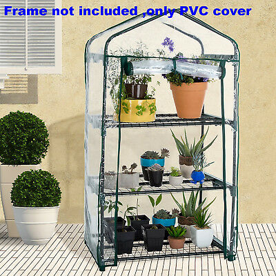 3/4/5 Tiers Garden Greenhouse Green Veg Plant House Shed Storage PVC Cover Apex