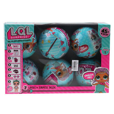2x 6pc LOL Lil Outrageous 7 Layers Surprise Ball Series Doll Blind Mystery Toys