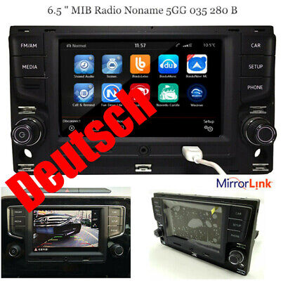 "6.5"" VW Autoradio MIB Bluetooth MirrorLink USB AUX MQB Golf 7 MK7 VII Passat B8"