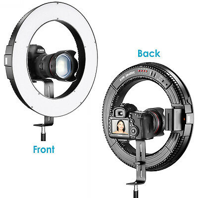 "Neewer DVR-384DVC 15"" Bi-color Dimmable SMD LED Ring Light Lamp for Photography"