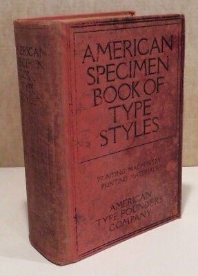 American Type Founders Company-Specimen Book of Type Styles - 1912