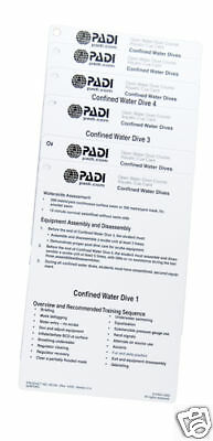 PADI 60194 Confined Water Cue Cards (7) Ver 2.4 Revision Date 04/04