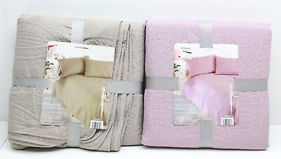 New Country Club Quilted Parisienne Bedspread Double Pillow Shams Color Choice