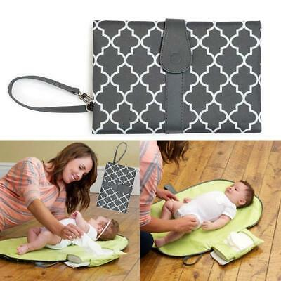 Baby Portable Folding Diaper Travel Changing Pad Waterproof Mat Bag Storage LC