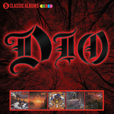 Dio : 5 Classic Albums CD Box Set 5 discs (2017) ***NEW*** Fast and FREE P & P
