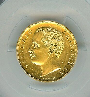 Italy 1905-R Gold 20 Lire  Pcgs Ms63 Looks 65!  Key Date!