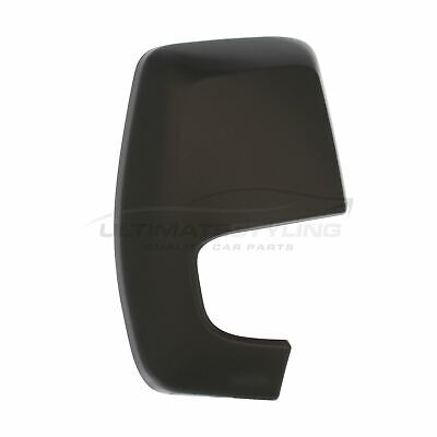 Ford Transit Custom 2012-> Door Wing Mirror Cover Black O/S Drivers Side Right