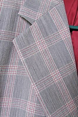 Vtg Men Pinstripe Plaid Hart Schaffner & Marx Suit Blazer Jacket Pants 44/40x30
