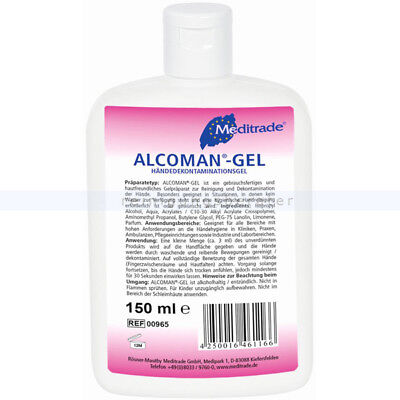 Händedesinfektion Meditrade Alcoman Gel 150 ml