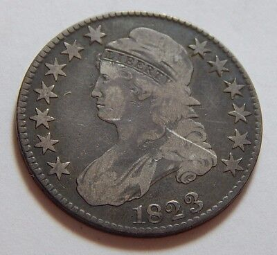 1823 US Silver Capped Bust Half Dollar Coin - Overton 103