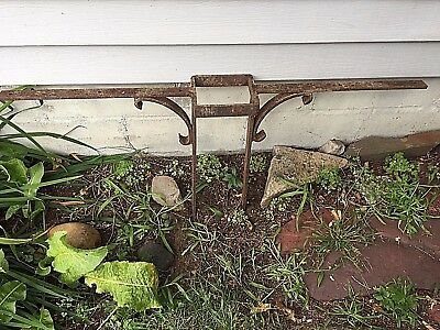Antique Architectural Wrought Ironwork Post Supports, Knee Braces, Lot of 10