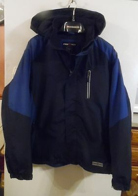 Men's size XL Brand new zip-up Hooded Jacket. Quilted warm lining- Pockets