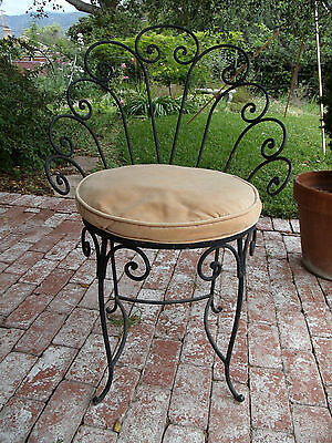 Vintage Antique Wrought Iron Set of 8 Chairs made early 1950's