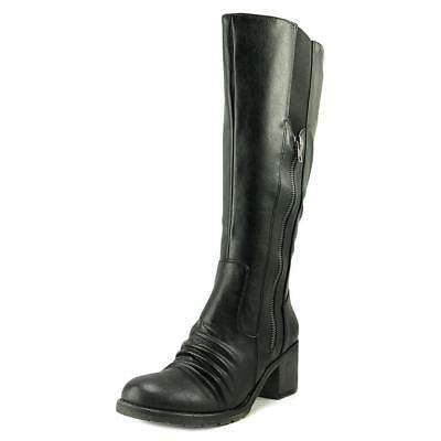 Baretraps Dallia 2 Wide Calf Women Round Toe Synthetic Black Knee High Boot NWOB