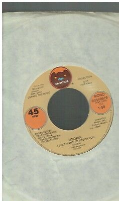 Todd Rundgren Utopia I Just Want To Touch You 45 Promo