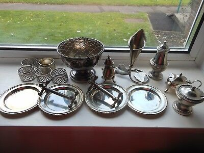 job lot silver plated items,,,,,,,303