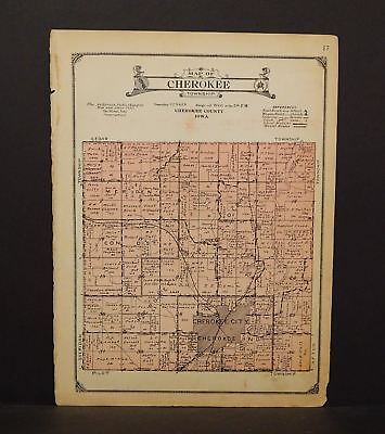 Iowa Chewkee County Map Cherokee Township 1923  W14#41