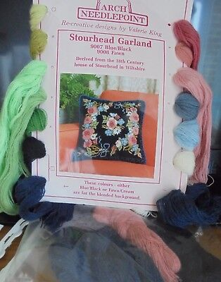 Arch Needlepoint 'stourhead Garland' Cushion Front - Started
