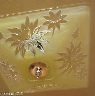 Vintage Lighting 1940s yellow by Virden   More Available
