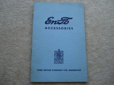 C1950S Vintage Enfo(Ford) Accessories 20 Page Adv Booklet
