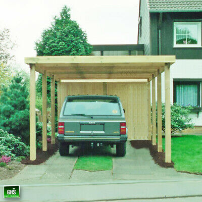 carport karl 2 einzelcarport 360x762cm 12x12cm leimholzpfosten garage holz neu eur. Black Bedroom Furniture Sets. Home Design Ideas