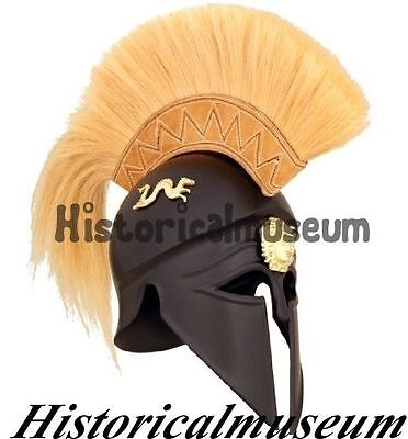 Royal GREEK CORINTHIAN ATHENIAN SPARTAN WARRIOR HELMET Halloween Costumes XK256