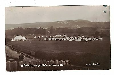 1910 RP Lewes Postcard 25th Middlesex Cyclist Regiment