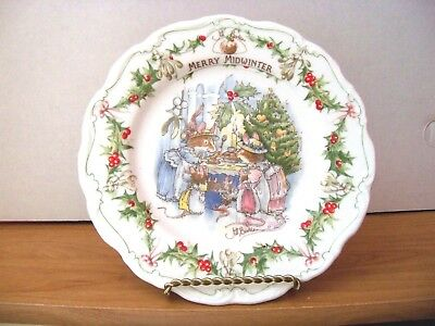 Royal Doulton Brambly Hedge Plate   MERRY MIDWINTER