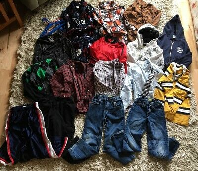 18 Pc Lot Boys Size 5-6; 7; 8 Small Fall Winter Clothing Gymboree Old Navy Chaps