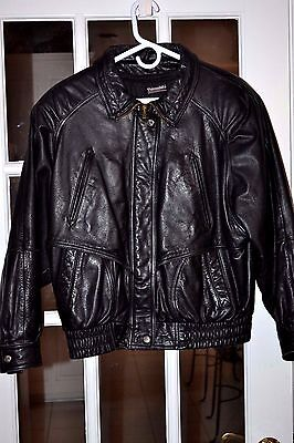 Wilsons Leather Men's Bomber Thinsulate Jacket Black Size n Small Pre-Owned Nice