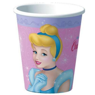 Cinderella Stardust 9 oz Hot or Cold Paper Cups 8 Count Birthday Party Supplies
