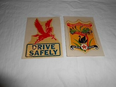 Two Vintage Gas And Oil Decals