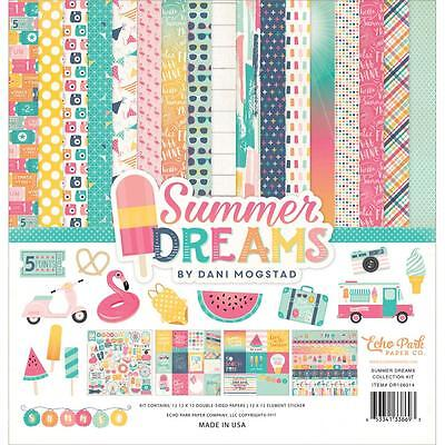 "Echo Park Collection Kit - SUMMER DREAMS - 12x12"" papers + stickers"