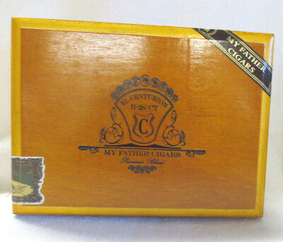 My Father Cigars El Centurion Corona Box Pressed Wood Box - Nice -Guitar Size!