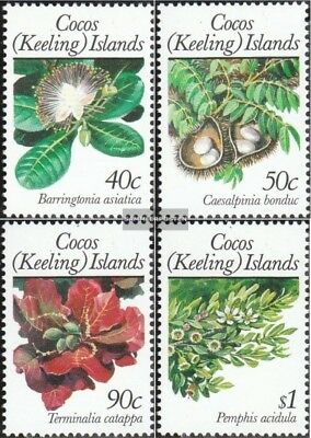 Kokos-Islands 209-212 (complete.issue.) unmounted mint / never hinged 1989 Plant