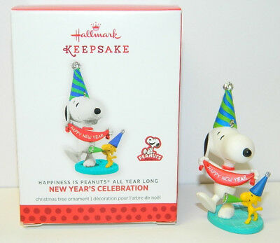 Peanuts Snoopy and Woodstock New Year's Celebration Hallmark Keepsake Ornament