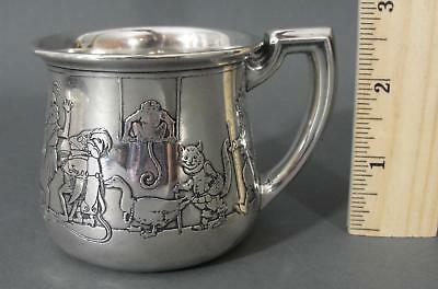 1920s Antique MCCHESNEY Sterling Silver BOBBIE Childs Cup Animal Band