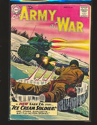 Our Army At War # 85 Fair Cond. bottom staple detached water damage