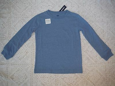 Boys Light Blue Long Sleeve Tee shirt size S 5 Old Navy new NWT Cotton crew