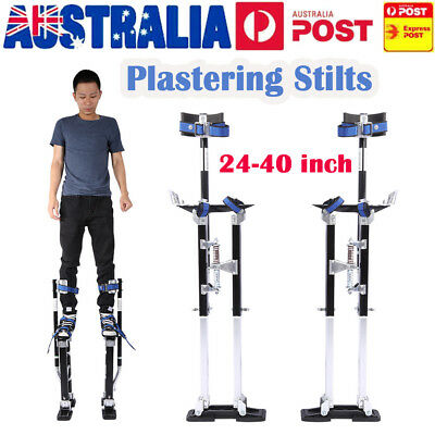 "Plastering Stilts - 24-40"" Large Size Aluminum Drywall Tools Painter Builders"