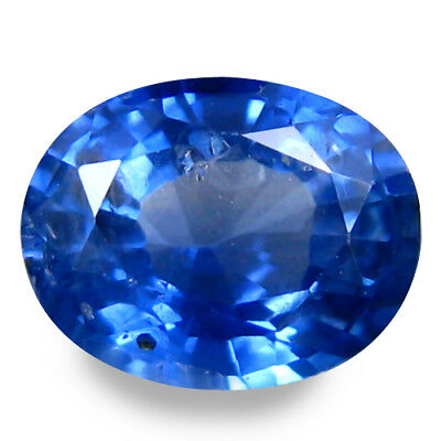 0.795Cts Magnetic Luster Blue Natural Sapphire Oval Loose Gemstones