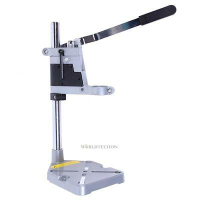 Double-Head Electric Bench Drill Press Holder Grinder Bracket Table Stand Clamp