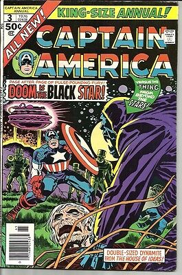 Captain America King-Size Annual No. 3 Dated 1976. Very Good. Jack Kirby