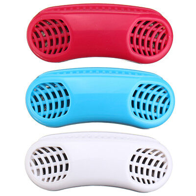 2 In1 Anti Snoring Air Purifier Sleeping Breath Aid Device Silicone Nose Clip UK