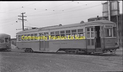 Community Traction Company (Oh) Original B&w Trolley Negative Of Car 857 In 1947