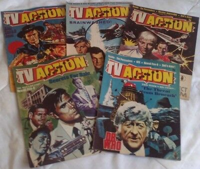 TV Action comic x 5 (1973). Dr Who/Hawaii Five-O/UFO/Persuaders. GD-VG comics