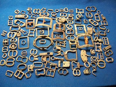 A Large Amount Of Buckles Of All Ages, Medieval, Roman, Georgian,etc.