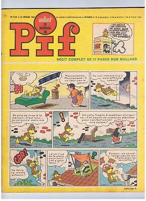 "BD ""VAILLANT - LE JOURNAL DE PIF"" no 1137 (1967) - BOB MALLARD (12 pages)"